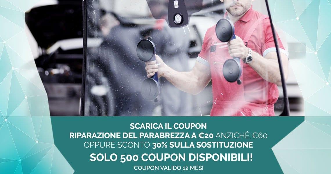 Coupon Riparazione Sostituzione Cristalli Auto Milano
