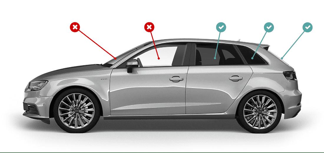 Oscuramento vetri auto: regole ministeriali - Carrozzeria Golgi - Milano